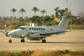 صفقه طائرات Beechcraft King Air 350 للعراق ......متجدد  - صفحة 3 Beech-350er-king-air-yi-155-iraqi-air-force-baghdad-bgw-orbi